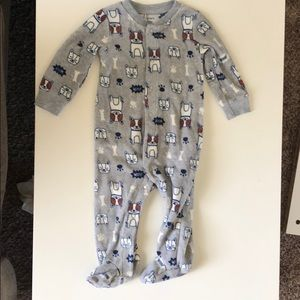 Carter's One Pieces - Bundle of 3 boy fleece footie pajamas 9 months